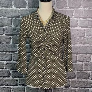 Laundry by Shelli Segal Geo Print Career Blouse S